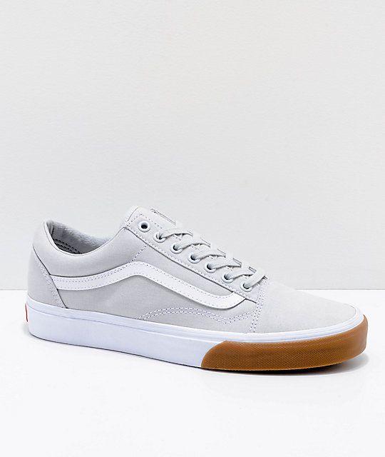 b9b48e2b9d Vans Old Skool Grey & Gum Bump Skate Shoes in 2019 | Wearables ...