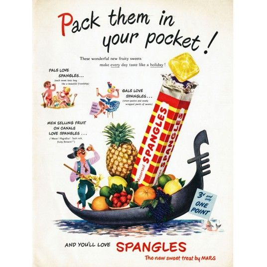 These were my all-time favourite sweets as a child!! Poster for Spangles