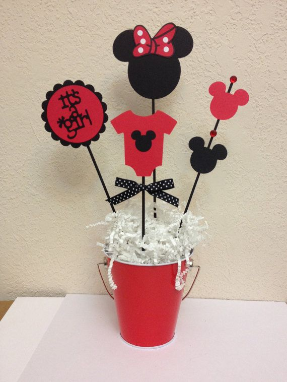 Minnie mouse baby shower decoration centerpieces by for Baby minnie decoration