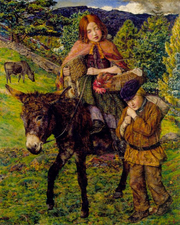 John Ingle Lee, 1860-06. Going to Market, Pre-Raphaelites collection, Liverpool museums