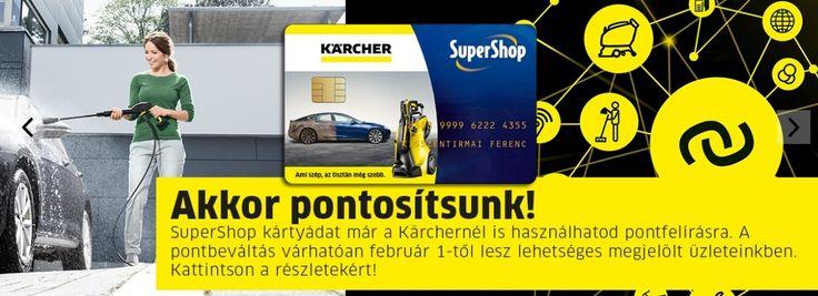 Örömmel jelentjük be, hogy 2017 -ben a Kärcher is csatlakozott az ország legnagyobb többpartneres hűségprogramjához! https://www.kaercher.com/hu/supershop.html