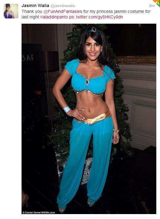 Wow! Jasmin Walia from the cast of TOWIE looked stunning last night in our Arabian Princess Costume from SparklingStrawberry.com #Princess #fairytale #panto #xmas #promotion