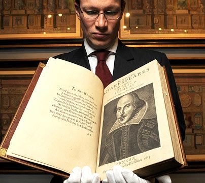 Shakespeare First Folio - I've been lucky enough to see the one at the Royal Shakespeare Company's Library.