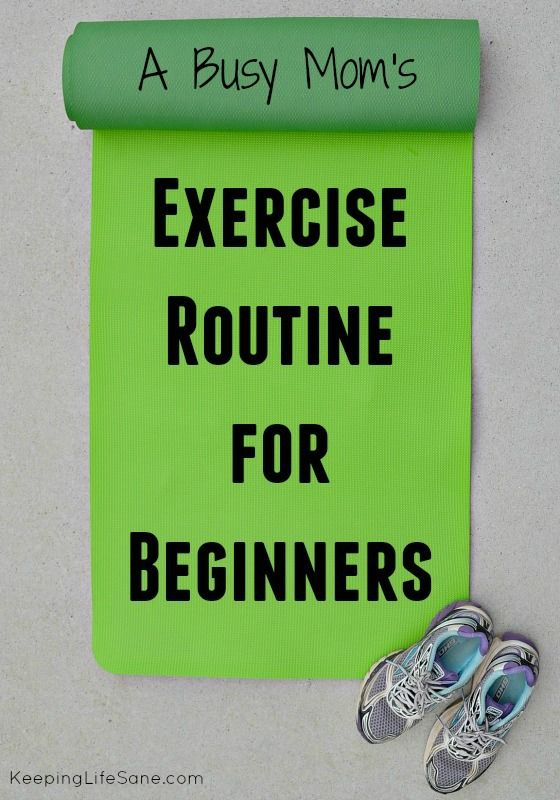 Exercise Routine for Beginners - Keeping Life Sane