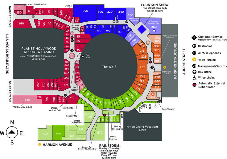 Planet Hollywood Las Vegas Map Rtlbreakfastclub
