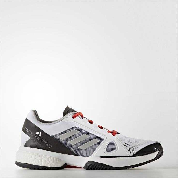Adidas adidas by Stella McCartney Barricade Boost 2017 Shoes (Running White  Ftw / Poppy)