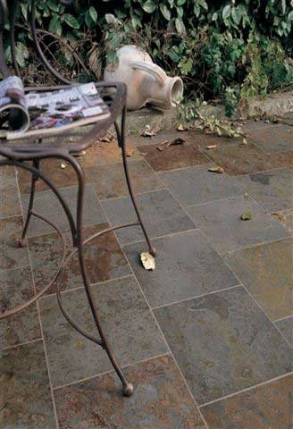 #Slate #Tiles Spiced Gold #Courtyard #UnionTiles www.uniontiles.co.za