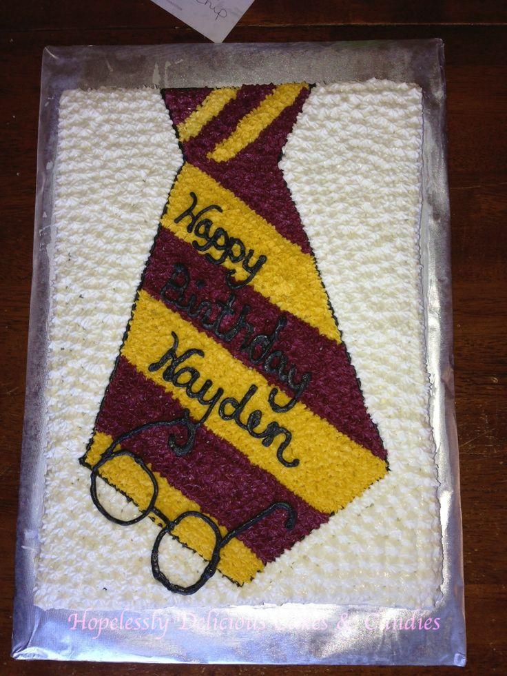 Harry Potter Sheet Cake  Chocolate with Vanilla Buttercream  Buttercream glasses