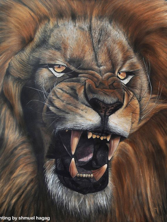 listing at https://www.etsy.com/listing/224194078/lion-roar-oil-painting-print-on-canvas