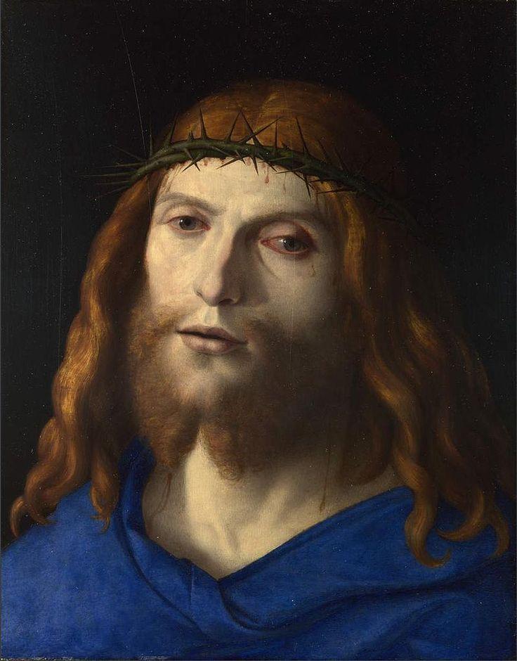 586. Cima da Conegliano - Testa di Cristo coronato di spine - 1510 - Londra, National Gallery
