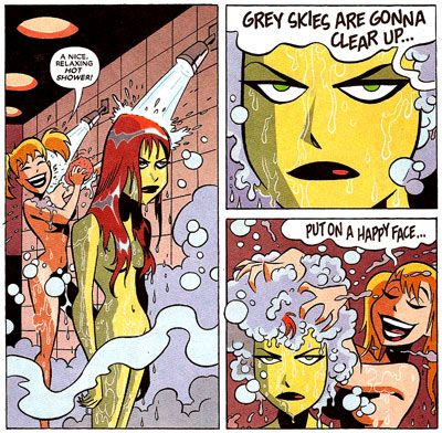 Okay, first I want to explain a few things about Poison Ivy so that we can better understand her sexuality within the context of her character development. Poison Ivy is an ecoterrorist and a straw...