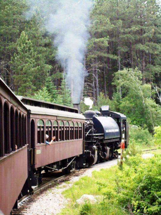 Tren 1880,! Esto fue tan divertido !! Dakota del Sur Keystone ... Un gran día
