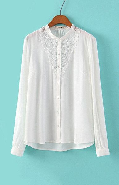 Specifications: Decoration:Lace Clothing Length:Regular Pattern Type:Solid Sleeve Style:Regular Fabric Type:Broadcloth Material:Cotton,Polyester Collar:Stand Sleeve Length:Full Size Shoulder Bust Leng