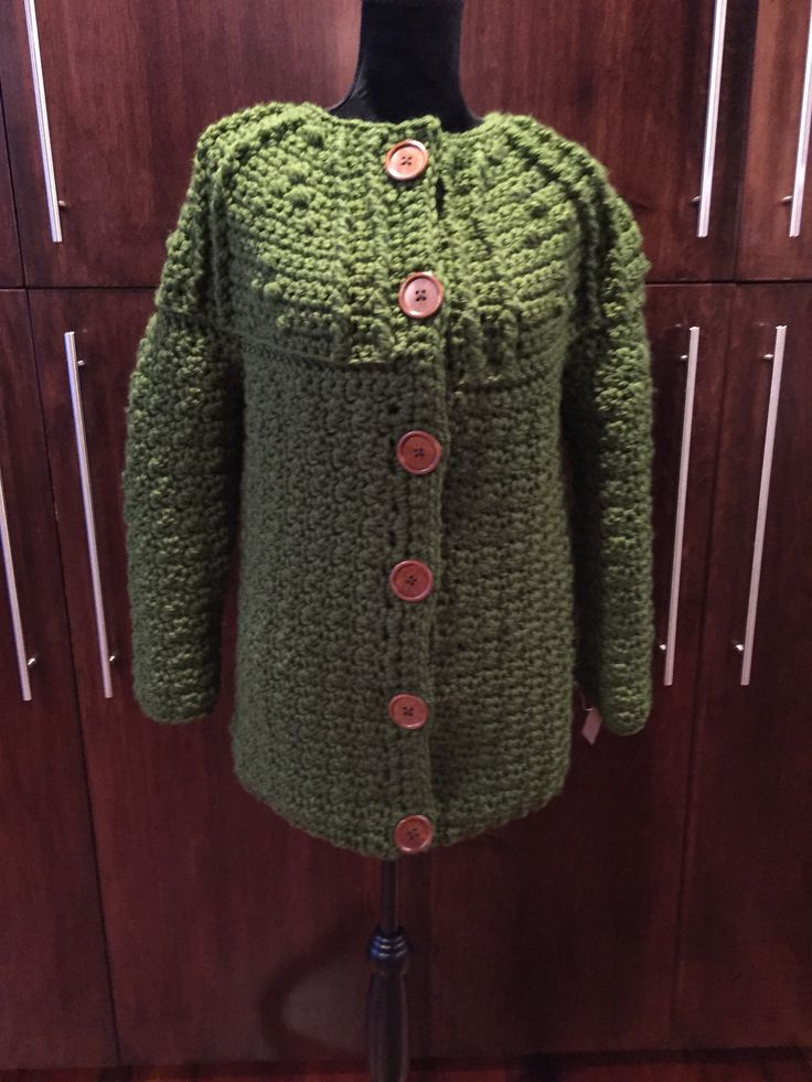 A personal favorite from my Etsy shop https://www.etsy.com/ca/listing/599119961/ladies-cardigan