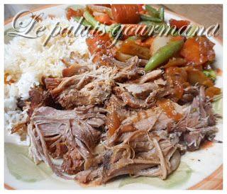 Le palais gourmand: Rôti de porc aux pommes