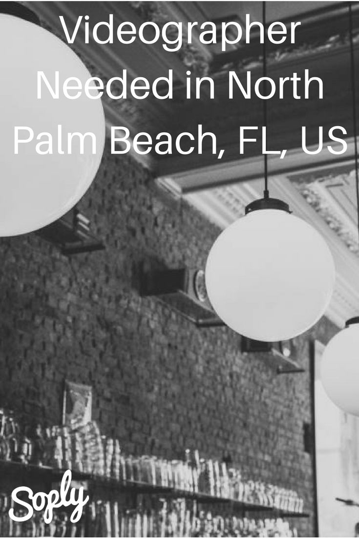 Videographer needed for a 60-90 minute seminar in a restaurant on November 10th. The event is in North Palm Beach, Florida, USA. See the video job and apply by clicking the pin!