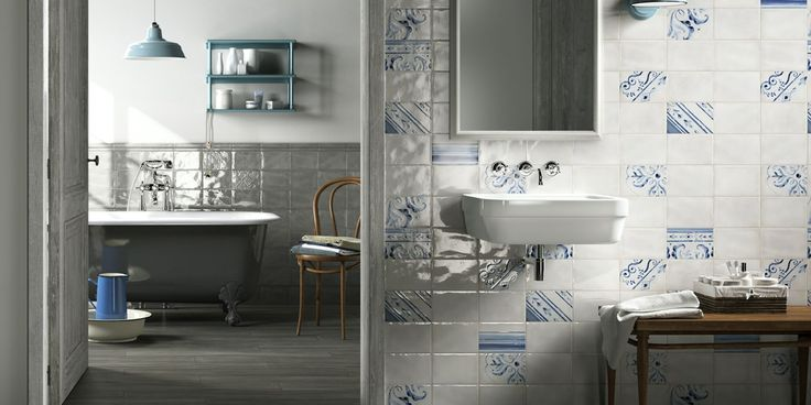 IMOLA 1874 Tiles, bathroom country-style ceramic double-fired wall tile [AM IMOLA 1874 3]