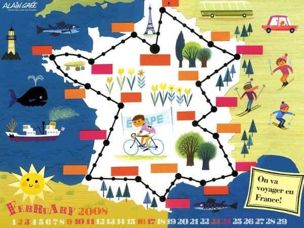 Alain Grée designed map