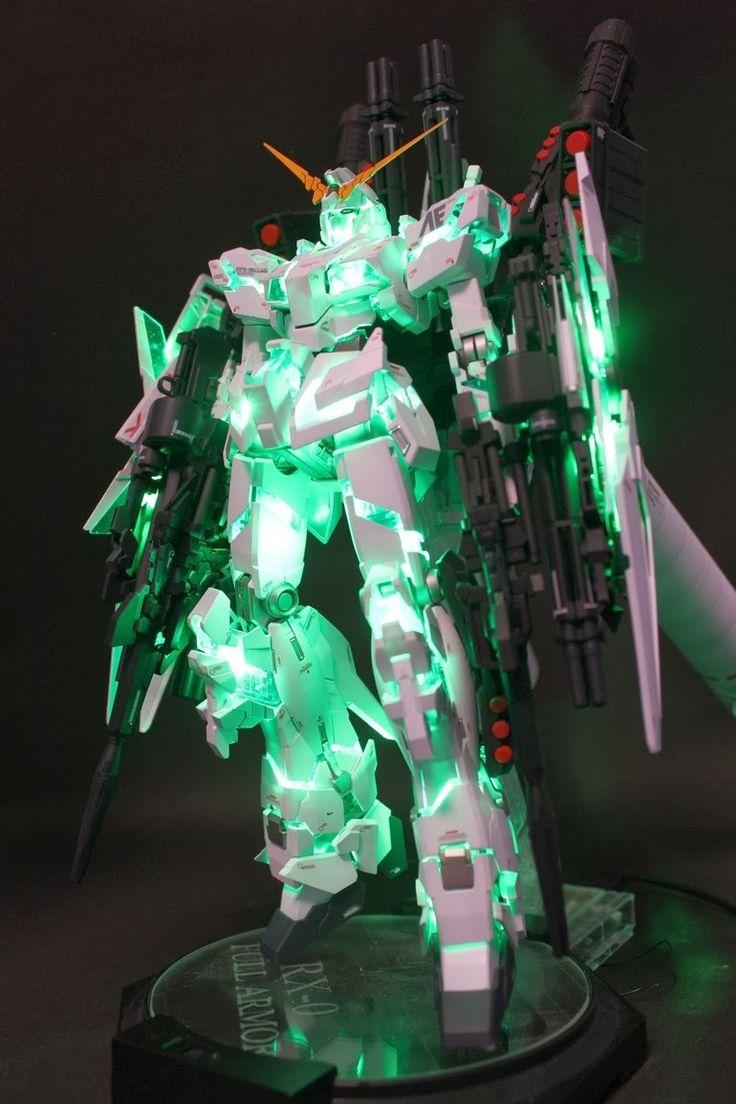 GUNDAM GUY: MG 1/100 Full Armored Unicorn Gundam - Customized Build w/ LEDs
