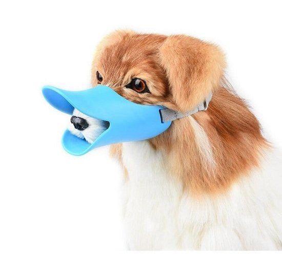 Adjustable Silicone Small Cute Dog Duckbill Muzzle A