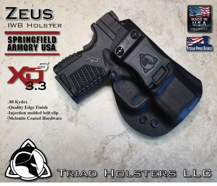 "Springfield Armory XDS 3.3"" Kydex Holster - Triad Holsters LLC - Kydex Holsters"