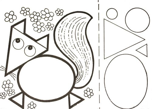 Renard en formes géométriques