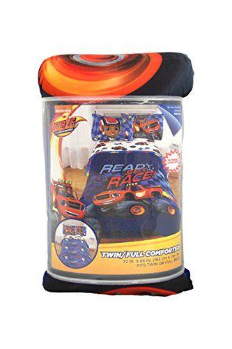 Kids' Comforters - Nickelodeon Blaze High Octane Microfiber TwinFull Reversible Comforter *** Read more at the image link.