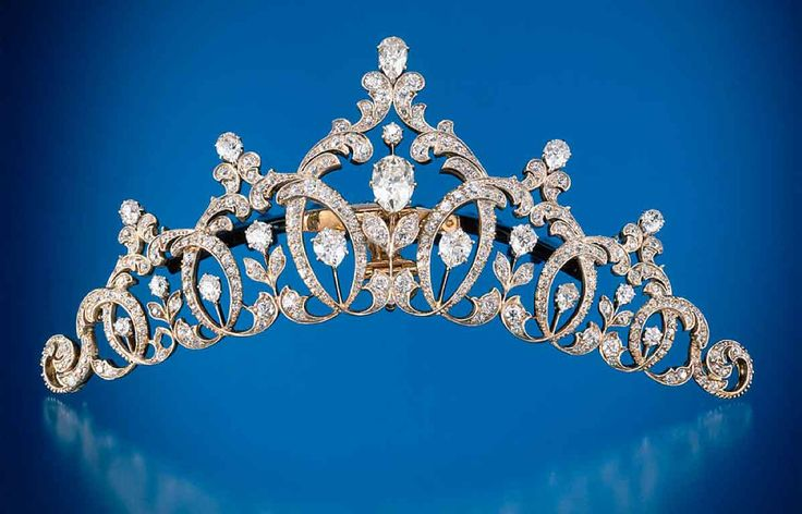Diamond tiara set in platinum & gold, Tiffany & Co., 1894
