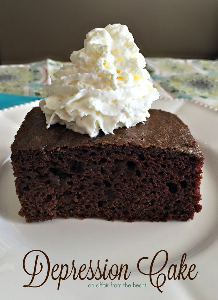 Cake recipes from the great depression