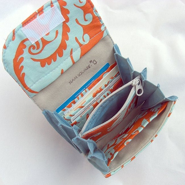 Accordion wallet in amy butler fabric