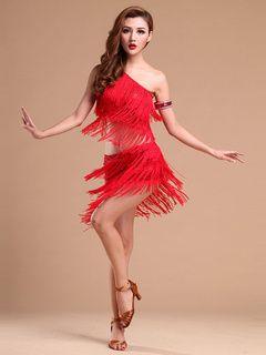 Sexy Robe de danse latine en polyester