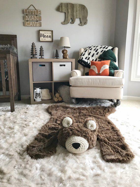 Bear Rug Woodland Nursery Baby