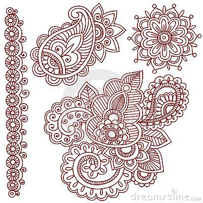 Henna Mehndi Vector Border Design Elements Stock Photos, Images, & Pictures – (148 Images) - Page 2