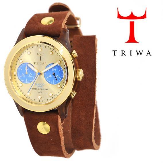 TRIWA(トリワ)×Tarnsjons 2連 レザー リストウォッチ 腕時計 ブラウン【送料無料】 wc-triwa-044