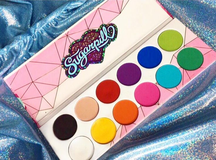 """My #sugarpill pro palette (and life) is complete!!  These are honestly some of the most amazing shadows I've ever used, the colour and pigment in them is amazing I'm so obsessed! I can't wait to try more of their products in the future."" Thanks, @elliejclark! You're amazing and we're so glad to hear how much you love your pro palette!  SHOP: https://sugarpill.com/products/pro-pans"
