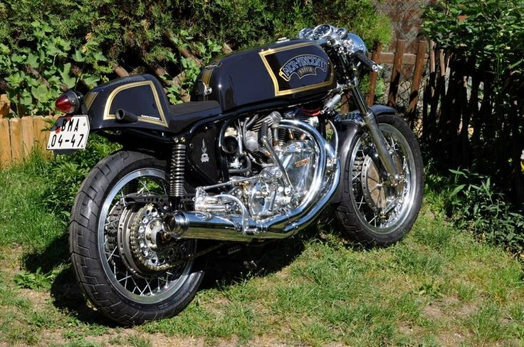 Norvin - Vincent Black Shadow v-twin in a Norton Featherbed frame.
