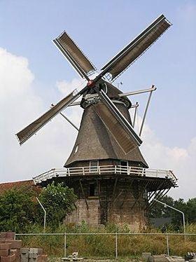Flour mill De Zwaluw, Hasselt, the Netherlands