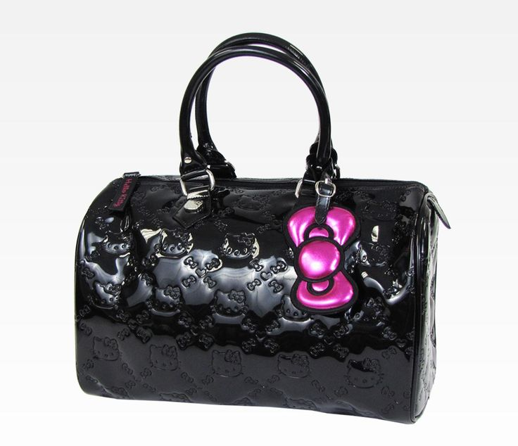 Hello Kitty Black City Patent Handbag