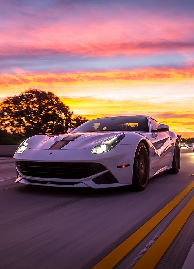 "F12Berlinetta on Road at Sunset""photo by: Ted7 Automotive Photography "" MORE [+]"