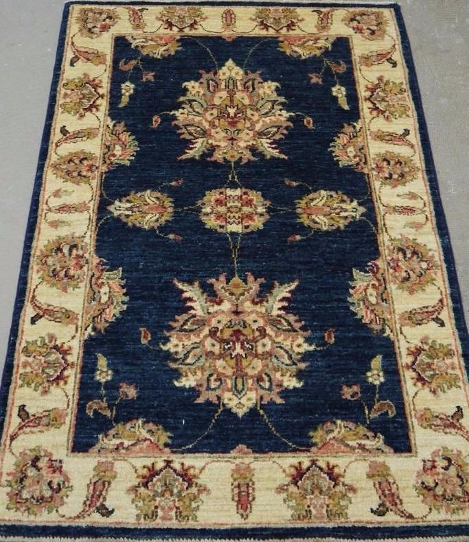 "NR: 19261 Location: Chobi Ziegler  Size: 4'1"" x 2`8"" Country: Afghanistan Pile: Wool Base: Cotton"