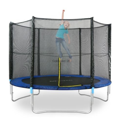 8 FT Trampoline Bounce Jump Safety Enclosure Net W/Spring Pad   Ladder Top Sale#