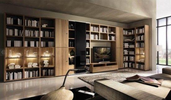Living Room Wooden Wall System Design Ideas From Huelsta