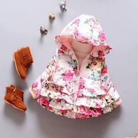 Floral Down Hooded Coat – Mamatree