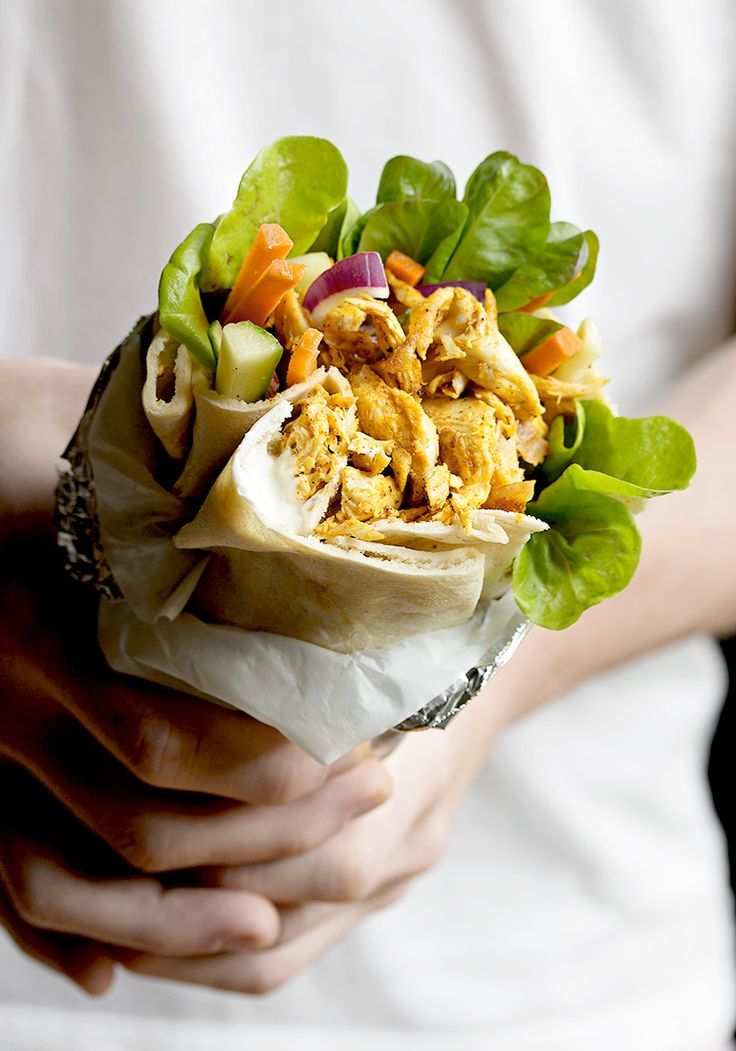 Rotisserie Chicken Shawarma Pita Wrap - a delicious, no-cook meal, made easy with rotisserie chicken!
