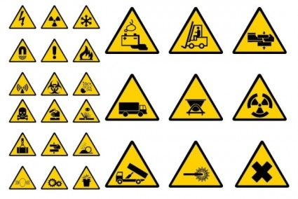 vector construction site warning label