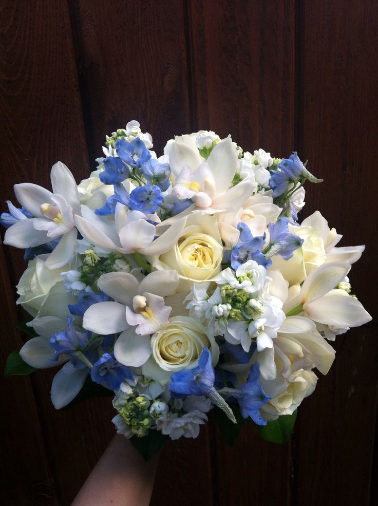 28 best blue bouquets images on pinterest bridal for A lot of different flowers make a bouquet