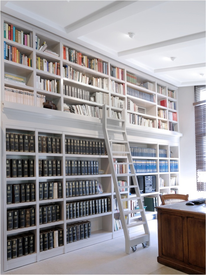 1000 images about bookshelves on pinterest home office design built in bookcase and offices - Staircases with integrated bookshelves ...