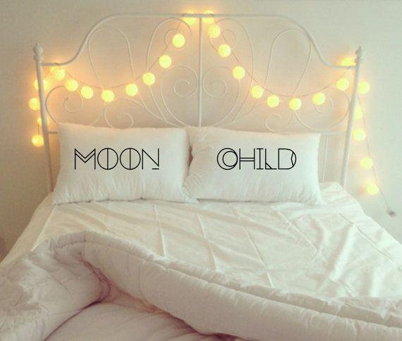 moon child // 100% cotton pillowcase set boho decor by SoBadAsh