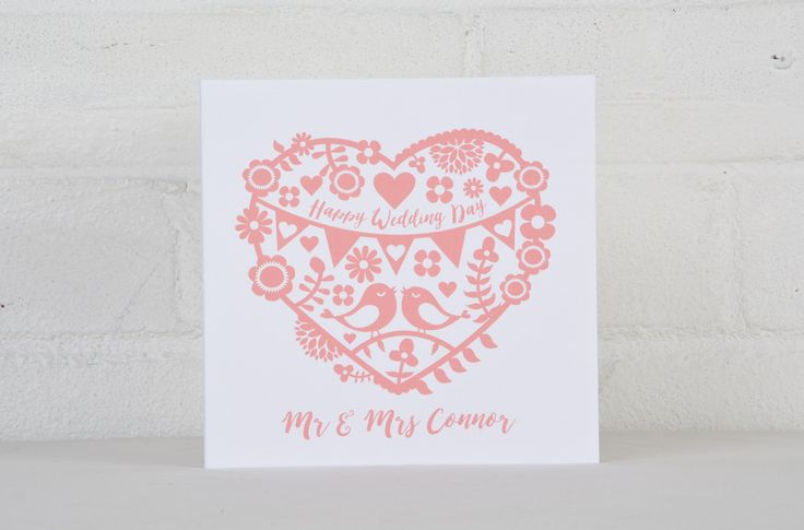 Personalised Happy Wedding Day Cards – Love Tree