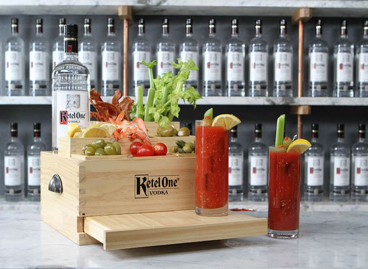 Enjoy a Bloody Mary, a Bloody Mary cocktail using Ketel One® Vodkaor Ketel One Citroen® Flavored Vodka & Bloody Mary base.